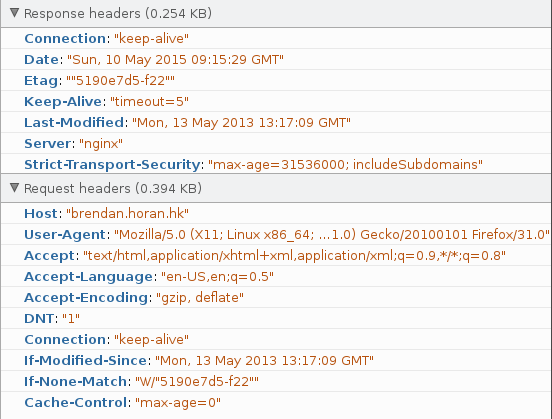 HSTS HTTP headers